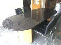 Oval Granite Dining Table