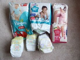 OVER 100 nappies and pull-up pants, sizes 3 and 4. May deliver locally
