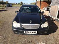 Mercedes Benz C CLASS 1.8 AUTOMATIC 2003 £800
