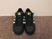 ADIDAS SUPERSTAR BLACK, WHITE AND GOLD