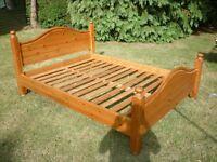Solid Pine King Size Bedframe