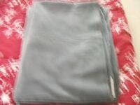 "LARGE GREY VELOUR CURTAINS 66"" X 90"""