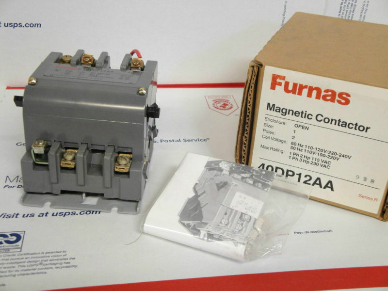 NEW IN BOX FURNAS #40DP12AA MAGNETIC CONTACTOR SER B