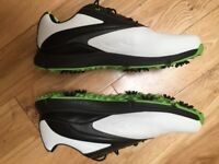 AS NEW Dunlop Waterproof Leather Biomimetic 300 Mens Golf Shoes & Superfeet Insoles (UK Size 13)