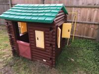 Little tykes playhouse log cabin