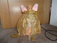 Gold Fairy Light Up Xmas Tree Topper