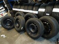 6x BRAND NEW FORD 4 STUD STEEL WHEELS WITH BRAND NEW MICHELIN TYRES £40 EACH £75 PAIR