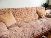large 3 piece sofa and two good sized armchairs