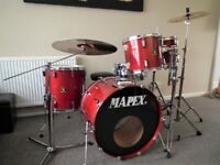 Vintage Mapex Saturn Series full drum kit with Sabian Pro cymbals
