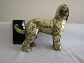 Vintage Solid Brass Large Afghan Hound Statue Figurine - 2.8kg/6.4lbs - Ornament