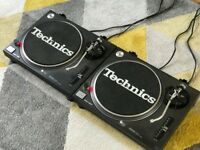 2 x Technics 1210 mk2 - Good condition, bedroom use only.
