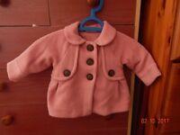 Pink baby girl coat (6-9)