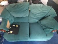 Green double seater couch, good condition