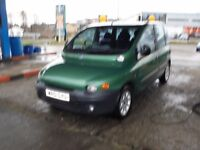 FIAT MULTIPA 1910cc 110 ELX JTD TURBO DIESEL 6 SEATER MPV 2001-51, LOOK ONLY 1 FORMER KEEPER