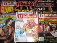 WRESTLING MAGAZINES X 6 FROM 1995 PRO WRESTLING have others for sale