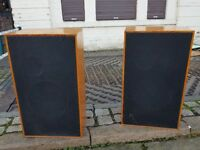 2 VINTAGE LARGE 3 SPEAKER HAND BUILT CABS WARFEDALE 3010 10 INCH BASS SPEAKERS FAB STUDIO HIFI GC