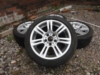 BMW 17 inch STAGGERED ALLOY WHEELS WITH TYRES