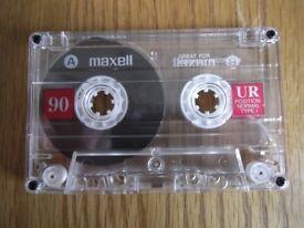 10 Maxell UR C90 Ferric cassettes