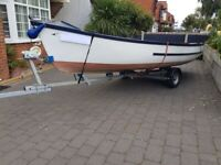 """14'6"""" open boat, trailer and 5hp outboard"""