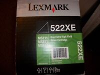 Brand new Lexmark 522XE black high yield toner