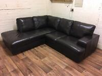DFS leather corner sofa (free delivery)
