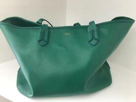 Green leather Ralph Lauren Handbag