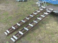 PAIR OF 6FT-7IN ALLOY/STEEL ROLLER RAMPS FOR TRAILER ETC...