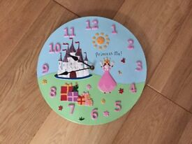 Princess picture wall clock