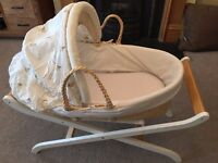 Moses Basket and Stand - great condition!