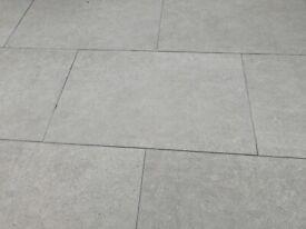 Porcelain Patio Tiles - Paradyz Ceramika – Optimal Antracite size- 900 x 600