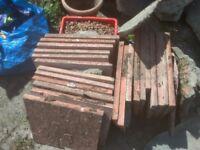 Terracotta Concrete Garden Slabs