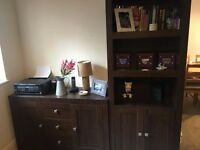 Furniture Set - Chunky Wood Effect Bookcases, Sideboard, TV Unit, Coffee Table and Nest of Tables