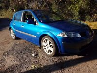 2003 RENAULT MEGANE VERY CLEAN THROUGHOUT FULL CREAM LEATHER FULL SERVICE HISTORY LOW MILES