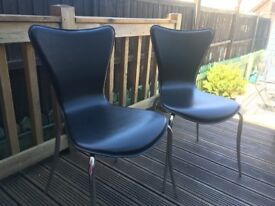 Four contemporary chairs for sale