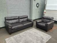 (Purchased) Beautiful Harvey's leather sofa set delivery 🚚 sofa suite couch furniture