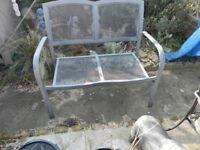 metal garden seat 2 seater