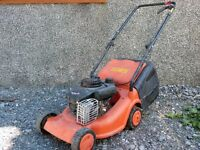 2 x Lawn Mowers and leaf blower/collector