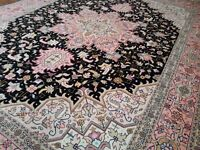 NEW PERSIAN CARPET RUG TABRIZ, VERY FINE KNOTTED, RUNNER OVER 100 YEARS OLD, 100% PURE WOOL