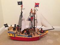 Playmobil pirate ship & fort