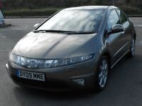 HONDA CIVIC EX 2.2 i-CDTi, 2009, TURBO DIESEL, 6 SPEED, 110K, HONDA FSH, NEW MOT, LEATHER, SAT NAV