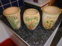 3 Herb Pots