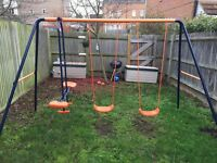 Hedstrom double swing set