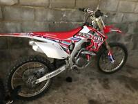 HONDA CRF 450 2016 14 HOURS USE FROM NEW. BARGAIN