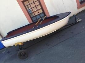 9ft dinghy and trailer
