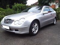 MERCEDES C180 COUPE SE PANORAMA – JUST 16,000 MILES WITH FULL HISTORY – LOVELY – NEW MOT & SERVICE