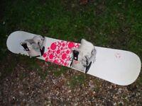 ATOMIC Hatchet (WIDE) 56.5 Snowboard with bindings.