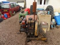 Mobile stick welder twin cylinder lister diesel engine