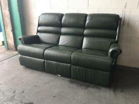Sherborne Green leather chesterfield sofa Can deliver