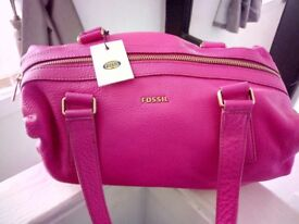 Fossil hot pink satchel
