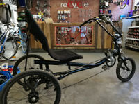 Recumbent tricycle with 7 gears
